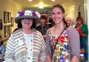 MaryAnn Greene, Scholarship Chair with Scholarship Winner Sarah Manning