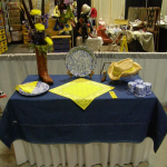 FGCCT Design-Yellow on blue Table Setting